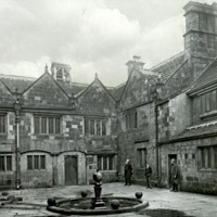 Woodsome Hall, Courtyard looking East - HLS06064