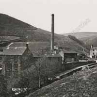 Ramsden Wood Mill, Walsden about 1870 - MOT00167