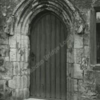 Markenfield Hall, Doorway to House in courtyard - HLS05856