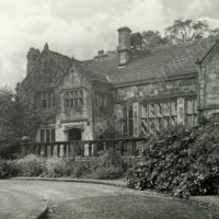 Woodsome Hall, South Front from lawn - HLS06052