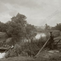Howsham Hall, the River Derwent at the Lock Gates - HLS05914