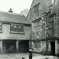 Woodsome Hall, Courtyard looking West - HLS06065