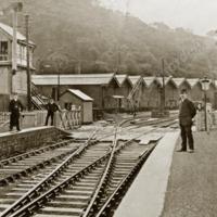 Portsmouth Station c1910, on the Copy Pit Line - MOT00144