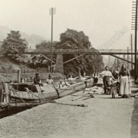 A Canal Boat at Waterside, 1904.                            - MOT00126