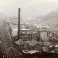 Castle Street area of Todmorden, viewed from above Castle Hill tunnel - MOT00428