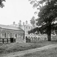 Hazlewood Castle, Courtyard and Chapel - HLS05894