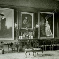 Portraits in the Dining Room, Newburgh Priory - HLS05886