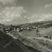 The Canal and Railway at Walsden. - MOT00136
