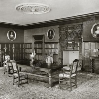 Burton Agnes Hall, the Dining Room showing Mantle Piece - HLS05723