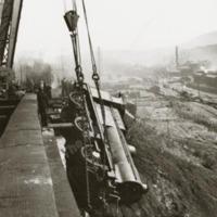 Engine Derailment at Todmorden Viaduct, September 1942. - MOT00473