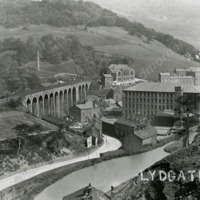 Robinwood Mill and Nott Wood Viaduct, Lydgate. - MOT00174