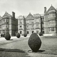 Burton Agnes Hall, South Front from Cross Path - HLS05707