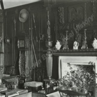 Farnley Hall, Interior showing Fireplace - HLS05798