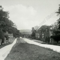 Newburgh Priory roadway, looking up the road - HLS05877
