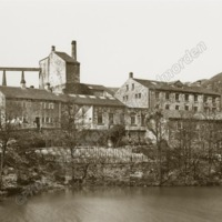 Ramsden Wood Mill, Walsden about 1870  - MOT00168