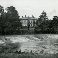 Esholt Hall from the opposite side of the river - HLS05789
