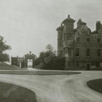 Ledston Hall, SE wing from Quadrangle   - HLS05843