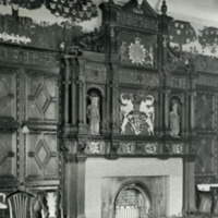 Gilling Castle, the Mantle piece in the Great Chamber - HLS05809