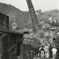 Demolition of Law Mill Chimney - MOT00505