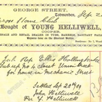 Invoice of Young Helliwell, Cooper - MOT00330