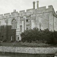 Markenfield Hall showing moat from the East - HLS05850
