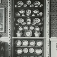 George the Third China Cabinet in Small Drawing room, Newburgh Priory - HLS05947