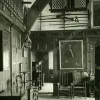 Woodsome Hall, entrance to Great Hall - HLS06055