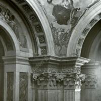 Castle Howard, details of Spandrels in the Entrance Hall - HLS05773