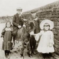 Children with Donkey - RUD00141