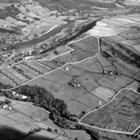 Aerial View of Mytholmroyd Showing Thornber Land - THB00198