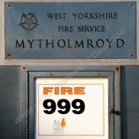 Plaque at Mytholmroyd Fire Station - AGW00318