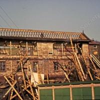 Demolition of Hallroyd Signal Box Todmorden - TAS001058