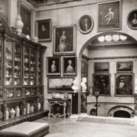 Castle Howard, China Cabinet on Staircase Landing  - HLS05760