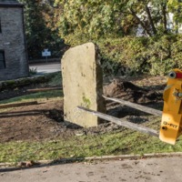 Relocating a Memorial Stone at White Lee, Mytholmroyd - ALV00118