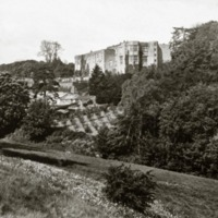 Gilling Castle, distant view  - HLS05803