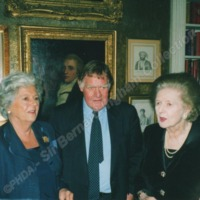 Sir Bernard with Madam speaker and Madam Prime Minister in the Palace of Westmister. - ING00135