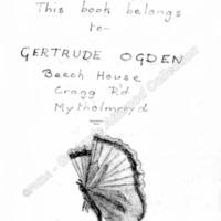 Gertrude Ogden Bookplate - GMA00136