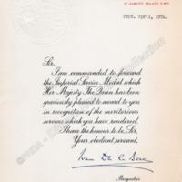 Medal Certificate - DAH00212