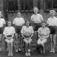 Central Street School, Hebden Bridge, Netball Team 1946/47 - MHA00113