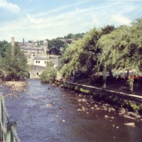 Hebden Water, Hebden Bridge, June 1989 - RSC00240