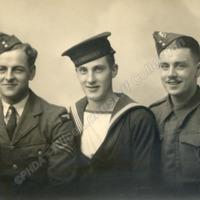 Portrait of three servicement - ALC02139
