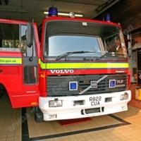 Fire Engine at Mytholmroyd Fire Station - AGW00310