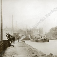 Horse Drawn Barge on the Rochdale Canal - TAS00315