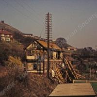 Demolition of Hallroyd Signal Box Todmorden - TAS001067
