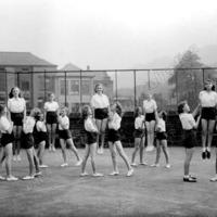 Girls PT, Central Street School, Hebden Bridge, 1940s - HA00109
