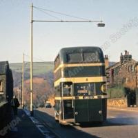 Bus at Halifax road, Millwood, Todmorden - TAS00249