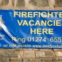 Advert at Mytholmroyd Fire Station - AGW00314