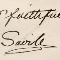 Lord Savile signature - CHT00107