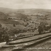 View from Stocks Lane, Warley - WAO00261