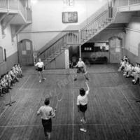 Badminton at Central Street School, Hebden Bridge, 1940s - MHA00105